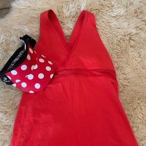Lululemon Red Tank Top *shelf bra* *pocket*